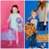 Personalized Kids Duffle Bag & Blanket Set
