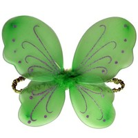Girls Lime Green Fairy Princess Wings