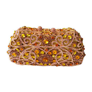 Crystal golden clutch