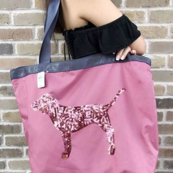 Victoria's Secret PINK Zipper Bling Tote Warm & Cozy Body Lotion & Mist