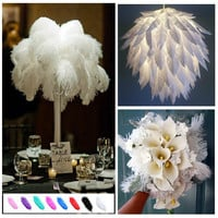 "10pcs Ostrich Feathers 16""-18"" White Exquisite Home Party Decorations"