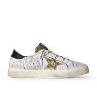 Golden Goose May Crackled Black Sneakers