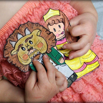 Beauty and The Beast Magnetic Dolls // Fairy Tale Paper Dolls // Travel Toy // church toy // Girl's Birthday Gift // Princess Dress-up Toy