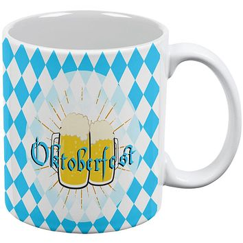 Oktobefest Mug Blue Flag German Beer All Over Coffee Mug