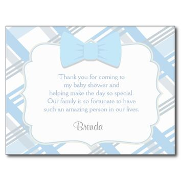 Bow-tie Baby Shower Thank You Cards