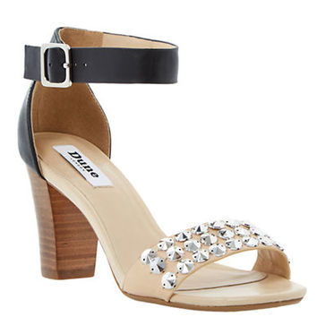 Dune London Flip Studded Leather Sandals