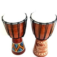 Djembe Drum African Bongo Percussion Musical Instrument - LARGE, PROFESSIONAL SOUND, JIVE® BRAND