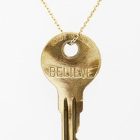 Women's The Giving Keys 'Dainty - Believe' 36-Inch Brass Pendant Necklace