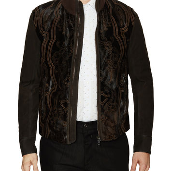Ligio Laser Cut Leather Jacket