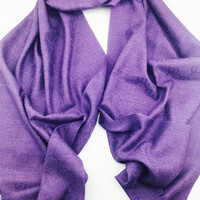 Gucci Purple Gg Stole New With Tags