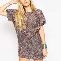 ASOS Tunic In Stitch With Tassels