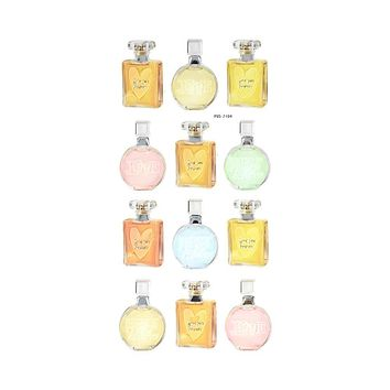 Perfume Bottles Foil Accented Puffy Stickers, 12-Piece