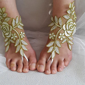 bridal accessories,  lace,green wedding sandals,  shoes,   free shipping!   Anklet,   bridal sandals,  bridesmaids,  wedding  gifts.......