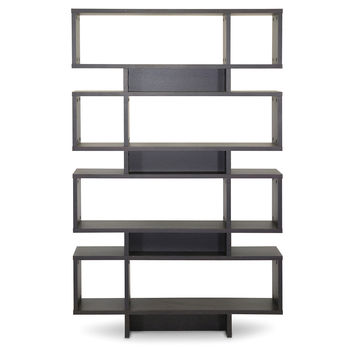 Louis Display Shelf, Espresso, Bookcases & Bookshelves