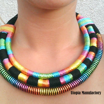 African necklace, african jewelry, maasai necklace, statement necklace, ethnic necklace, rope necklace, africa necklace, afro necklace