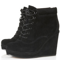 ANDREAS Wedge Lace Up Boots - Heeled Boots - Boots  - Shoes