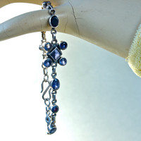 Iolite and Sterling Silver Bracelet Blue Purple Stones