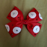 Minnie Mouse Polka Dot Red Disney Character Inspired Hair Bow