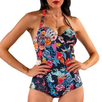 Juke Box Baby Underwire One Piece Swimsuit