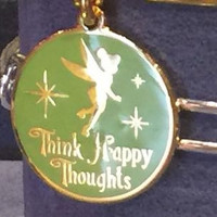 Disney Parks Tinker Bell Happy Thoughts Alex and Ani Charm Gold Finish New