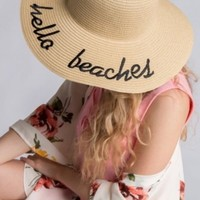 Hello Beaches Floppy Beach Hat