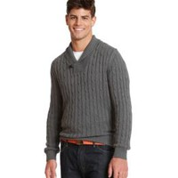Product: John Bartlett Consensus Men's Cable Shawl Sweater