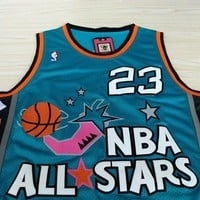 Michael Jordan All Star 23 1996 NBA Basketball Jersey Green Michael Jordan