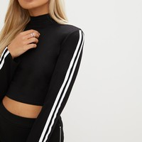 Black Stripe Extreme Longsleeve Top