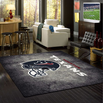 Houston Texans Rug NFL Team Distressed