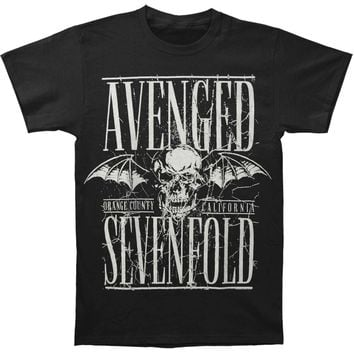 Avenged Sevenfold Men's  AVS Bullet Proof Mens Regular T T-shirt Black