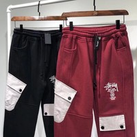 Stussy Autumn Winter Fashionable Couple Casual Embroidery Sport Pants Trousers Sweatpants