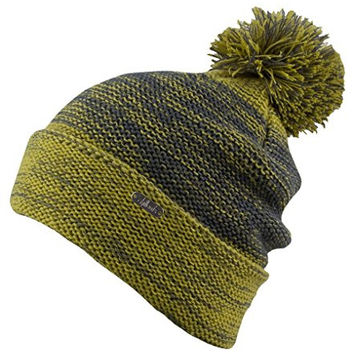 Chillouts Jan Soft Thick Cuffed Ombre Pompom Beanie Green / Lime