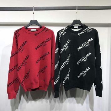 Balenciaga Woman Men Fashion Top Sweater Pullover