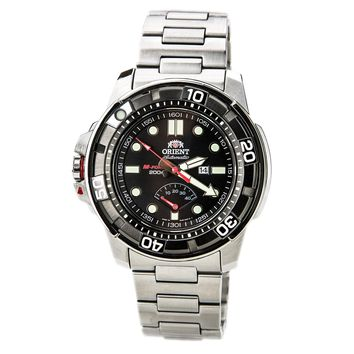 Orient EL06001B Men's M-Force Beast Black Dial Stainless Steel Power Reserve Automatic Watch