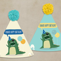 Printable Party Hats: Dinosaur [Instant Download]