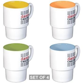 Dance Teacher Stackable Mug Set (4 mugs)