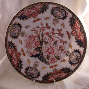 Royal Crown Derby dessert plate dated 1985 - 1st Quality - 383 King's Pattern
