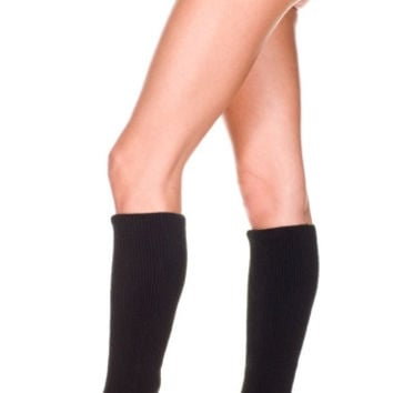 Leg Warmers with Side Buttons and Fringe