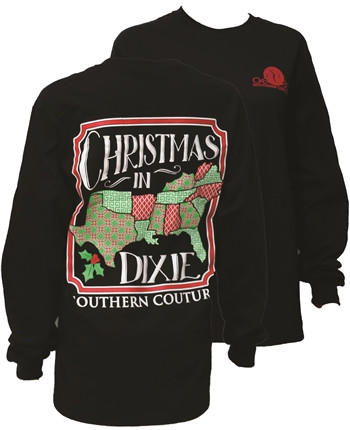 southern couture christmas in dixie southern long sleeve t shirt - Christmas In Dixie