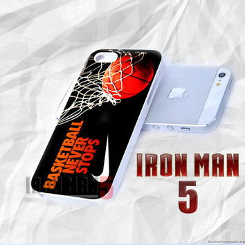 AJ 854 Basketball Never Stops Nike - iPhone 4/4s/5 Case - Samsung Galaxy S3/S4 Case - Black or White