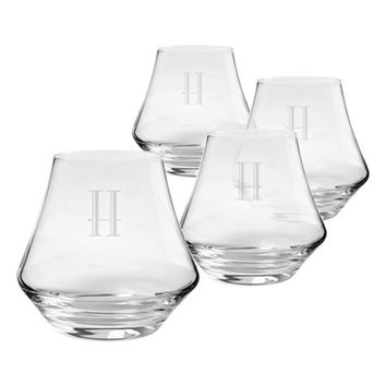 Cathy's Concepts Personalized Whiskey Glasses - White (Set of 4)