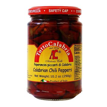 Tutto Calabria Hot Long Chili Peppers, 10.2 oz (290 g)