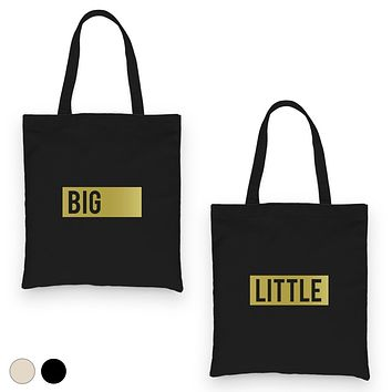 Big Little Boxed-GOLD Canvas Shoulder Bag Powerful Perfect Sorority