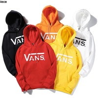 VANS fashion hit with cotton and fleece-printed hoodies for casual hoodies