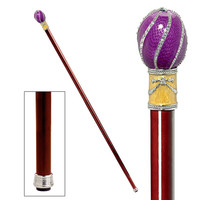 Park Avenue Collection The Imperial Collection: Violet Viper Faberge-Style Premium Enameled Walking Stick