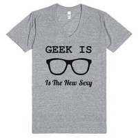 Geek is the New Sexy Funny Vneck Tee Shirt