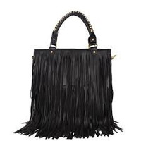 Tassel Purse -- Black