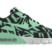 Nike Air Max 90 iD Custom Girls' Shoes 3.5y-6y - Green