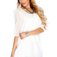 Sexy Short Sleeves Mesh Cute Casual White Party Dress