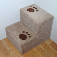 "14"" x 16"" wide x 18"" deep Dog steps, pet stairs. For dogs or cats."
